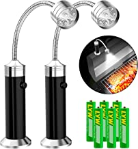 Barbecue Grill Light [Magnetic Base], UBEGOOD Grill Lights for BBQ with Super Bright LED Lights, 360 Degree Flexible Gooseneck, Weather Resistant, Batteries Included (2 Pack)