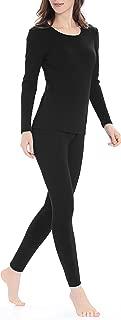 Genuwin Womens Thermal Underwear Set Stretchy Ladies Long Johns Base Layer Womens Underwear S~XL