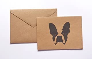 Boston Terrier Stationery Note Card Set