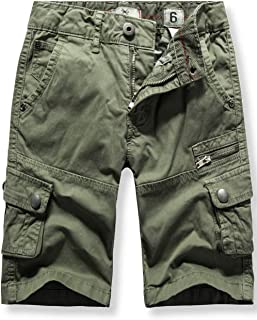 Boys' Cargo Shorts Adjustable Waist Multi Pocket Outdoor Denim Shorts