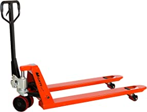 "Mighty Lift ML55-2 Heavy Duty Pallet Jack Truck, Wheels: Polyurethane on Steel, 50"" Height, 27"" Width, 48"" Length, 5500 lb..."