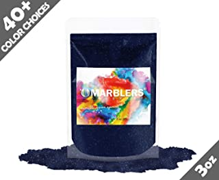 Marblers Powder Colorant 3oz (85g) [Blue Black Pearl] | Pearlescent Pigment | Tint | Pure Mica Powder for Resin | Dye | Non-Toxic | Great for Epoxy, Soap, Nail Polish, Cosmetics and Bath Bombs