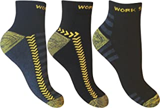 12 Pairs of Mens Ultimate Work Trainer Socks with Re-inforced Heel and Toe/UK Size 6-11 Eur 39-45