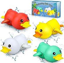 aovowog Juguetes Baño Bebe Pato Juguetes Bañera Juguetes Piscina para Bebe Niños,Juguetes de Agua Cuerda para Bebe Niños N...