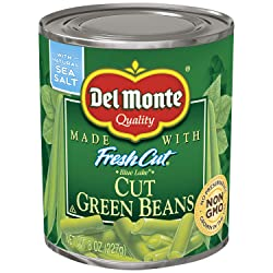 Del Monte Canned Fresh Cut Green Beans, 8-Ounce
