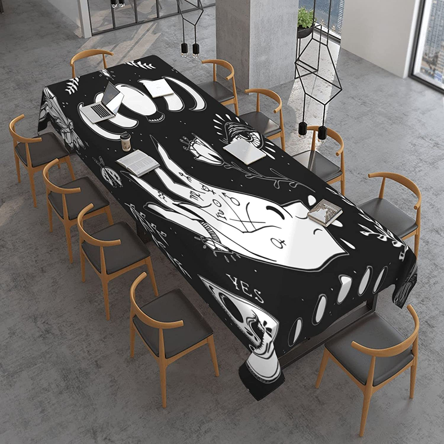 Sun Moon and Star At the price Witch Regular discount Rectangle Polyeste Third Tablecloth Eye