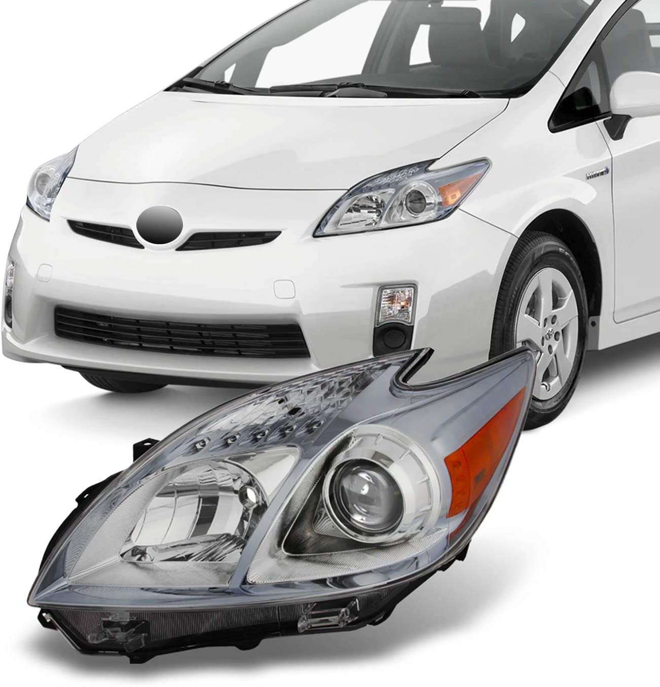 For 2010 2011 Toyota Prius Halogen Challenge the lowest price Oakland Mall Headlight Style H Clear Front