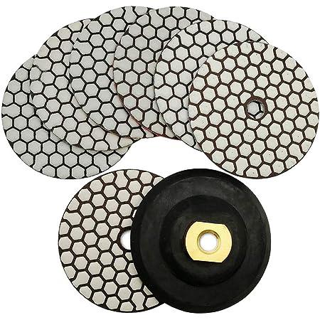 grano 800//1800//3500, para cristal y piedra A0127 Almohadilla de diamante para pulir a mano