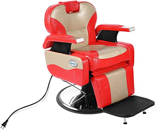 new arrival Artist hand Electric Barber Chair for Recline, Heavy Duty Classic Salon Hair Chairs, All Purpose Hydraulic Barber Chair, Beauty online Styling outlet sale Chair for Beauty Shop Salon, Electric Recline at Any Position sale