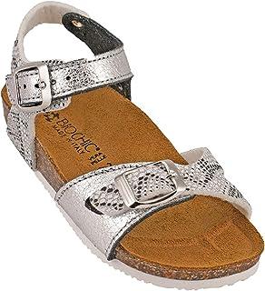 012-332 Biochic Girls Sandals Metallic Grey