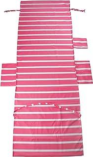 Chengsan - Funda para tumbona de playa, toalla de playa mate, para el jardín, las vacaciones, con bolsillos, Microfibra, 10, 75 x 215 CM / 29.5 x 84.6 inches
