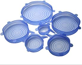 Silicone Stretch Fresh Food Cover Stretch Lids, 6-Pack of Various Sizes