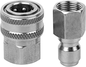 Semoic Stainless Steel Pressure Washer Adapter Set G3/8 Female Quick Connect Plug and Socket for Attach A Hose to The Water Pumps,Hose Reels,Max Pressure 5000 Psi Rating