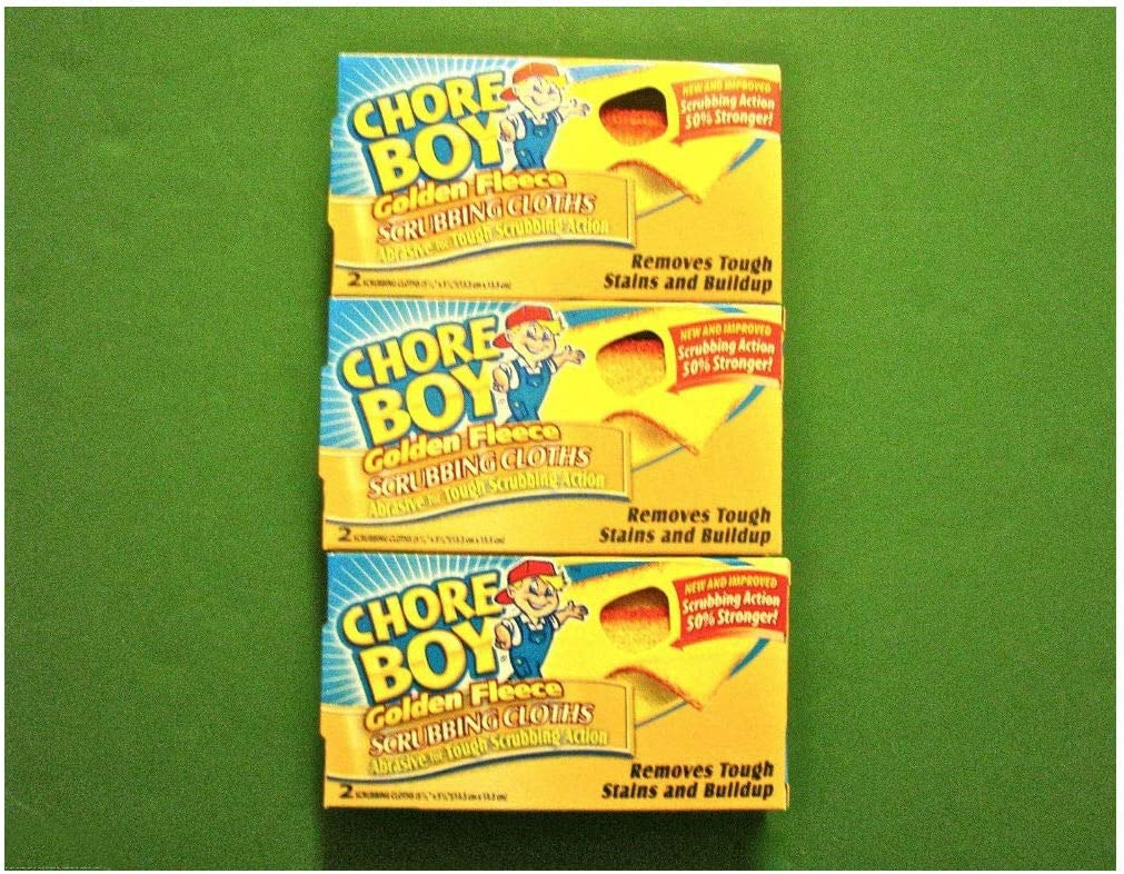 Max 71% OFF 6 Max 67% OFF Pc Golden Fleece Chore Boy Scouring 2 Cleaning Scrubbing Pads
