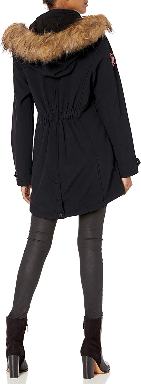 CANADA WEATHER GEAR Damen Parka Jacket Daunenalternative, Mantel Pattentaschen schwarz