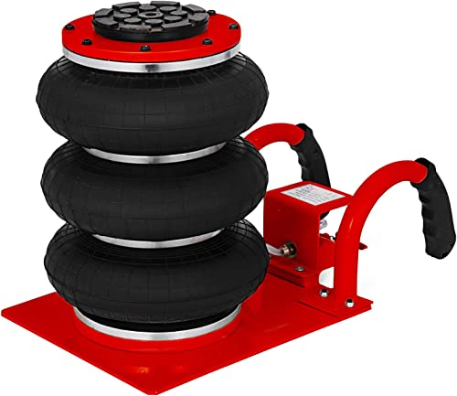 2021 Mophorn online Triple Bag Air Jack lowest 3 Ton Pneumatic Car Jack 6600lbs Heavy Duty Air Jack Lifting Up to 16 Inch Height (Red) sale