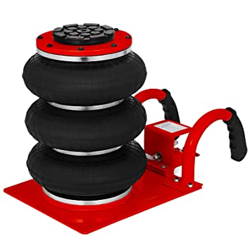 Mophorn Triple Bag Air jack 3 Ton Pneumatic Car Jack 6600lbs Heavy Duty Air  Jack Lifting Up To 16 Inch Height (Red) : Amazon.in: Home & Kitchen