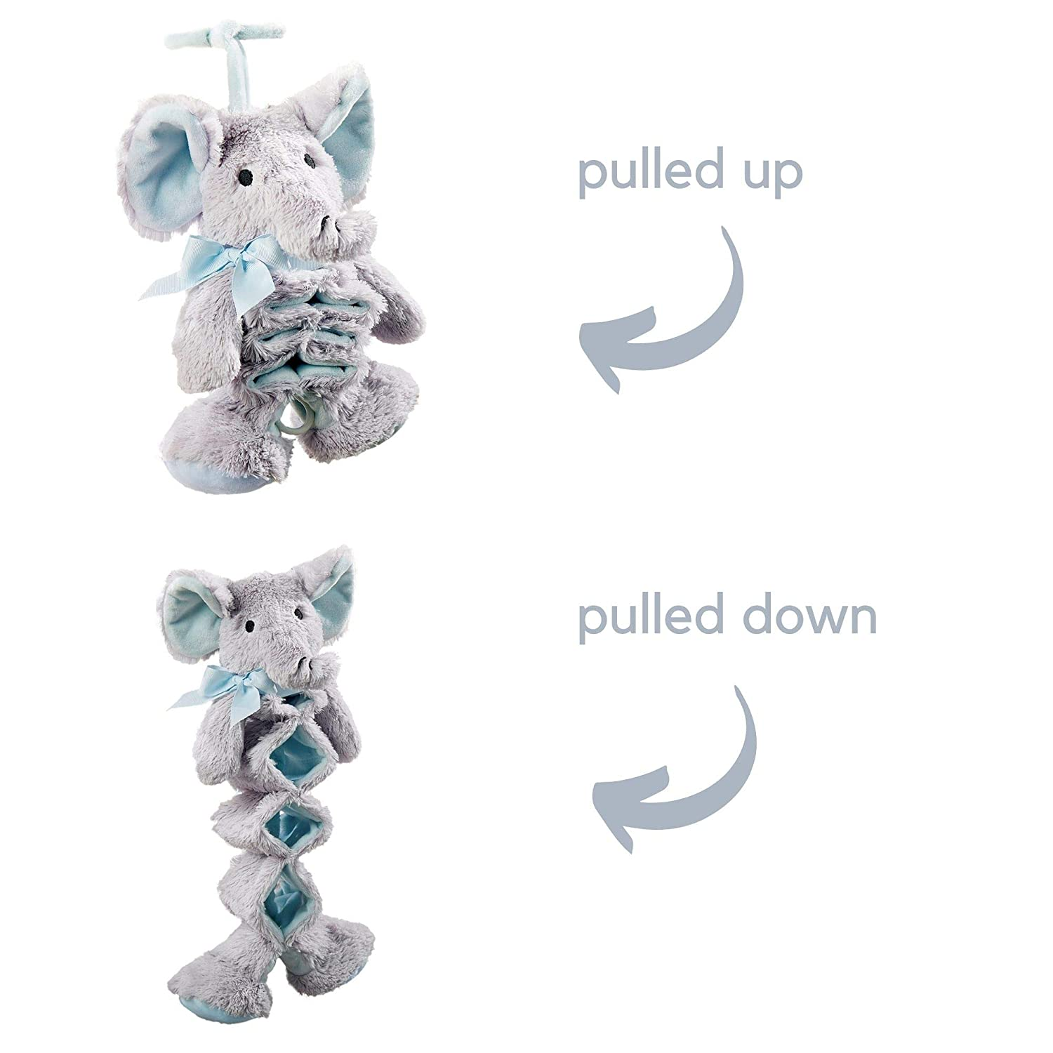 Lil Llama Baby Musical Pull Toy - Infant Baby Elephant Musical Toys - Entertain Baby with Baby Musical Toys - Pull Down Musical Toy - Plush Crib Musical Toy - Soft Pull String Musical Toy