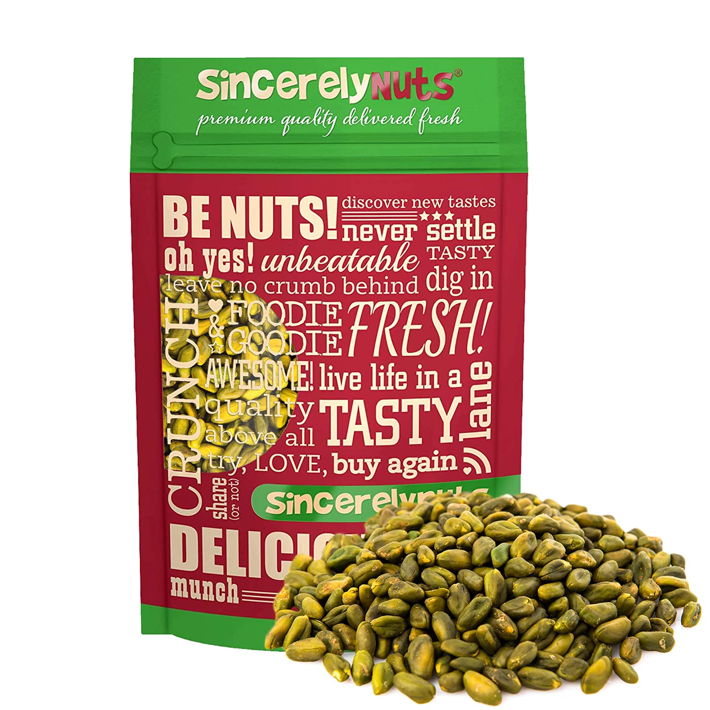 Under blast sales Sincerely Nuts Pistachios Roasted and Kernels unisex No Unsalted Shel