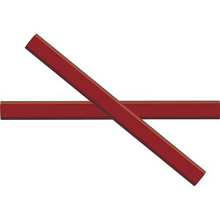 GRAPHITE Carpenter Pencils #2 Pencil Lead | Rectangular Pencil | (72) pcs | Wide Graphite Pencil for Wood Flooring Marker & Concrete Marking | For Measuring Tool Set | Red