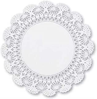 Round paper Lace Table Doilies – 12 inch White Decorative Tableware Disposable Placemats (pack of 60)