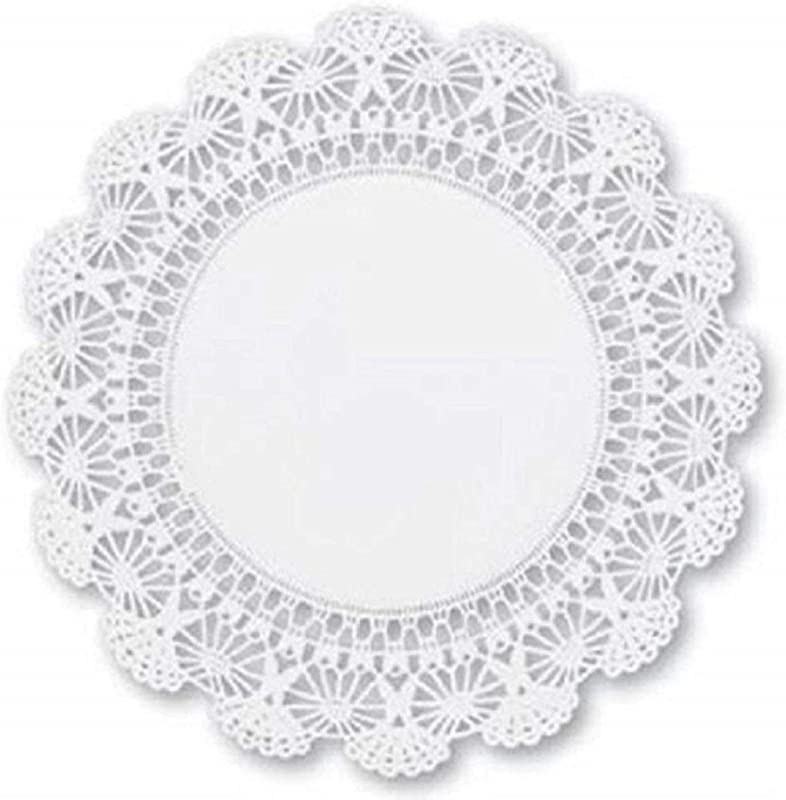 Round Paper Lace Table Doilies 12 Inch White Decorative Tableware Disposable Placemats Pack Of 60