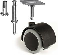 Slipstick CB681 2 Inch Floor Protector Rubber Caster Wheels (Set of 4) 5/16 Inch Stem or..