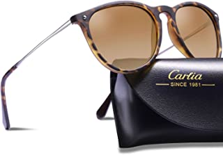 Carfia Vintage Polarized Sunglasses for Women Classic...