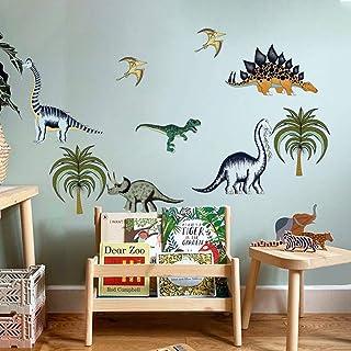 decalmile Stickers Muraux Dinosaure Autocollant Mural Animaux Jungle Décoration Murale Chambre Enfants Garçon Salle de Jeux