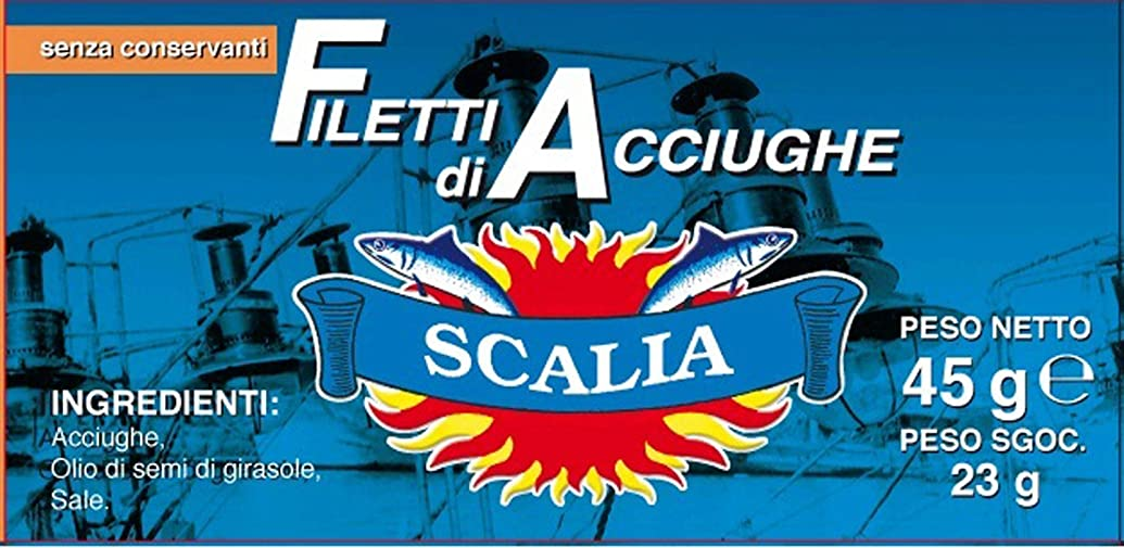 Keysystem 8005469964759 <Due Date Attention> Scaria's Anchovy Fillet from Italy Sicily (45 g) Clear