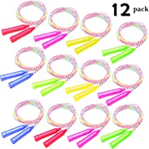 CTRLZS 12Pack Jump Rope Set-7.5ft of Colorful Outdoor Jump Ropes Game, Vibrant Jumping Ropes for Kids, Great Birthday Party Sports Activities Favors Gift for Boys Girls Goodie Bag Fillers