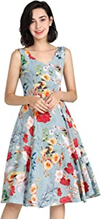 Number 9 Fashion Mint Scallop Neckline with Gorgeous Cranes and Blooming Floral A Line Dress with Pockets