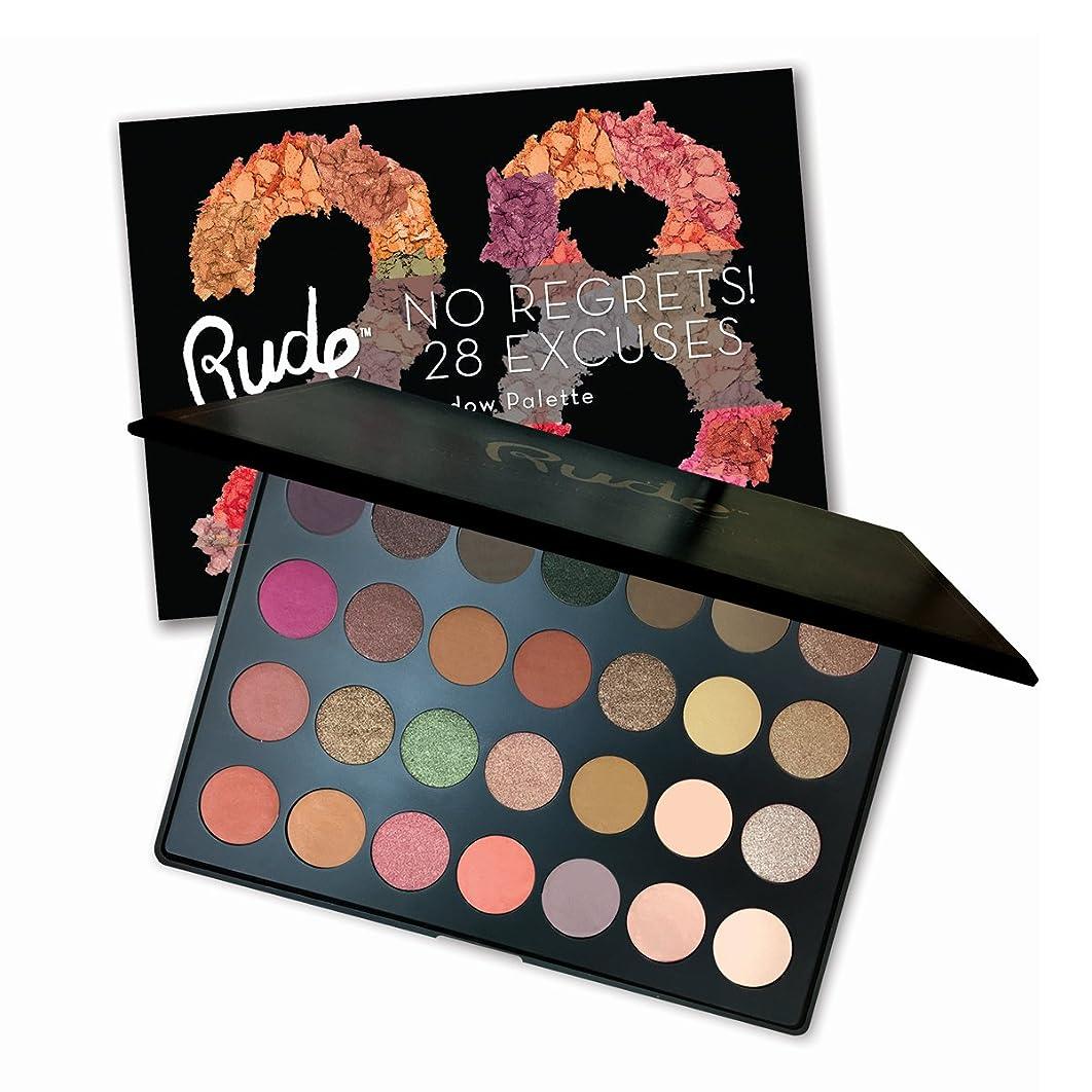 きらめき不運へこみ(6 Pack) RUDE No Regrets! 28 Excuses Eyeshadow Palette - Virgo (並行輸入品)
