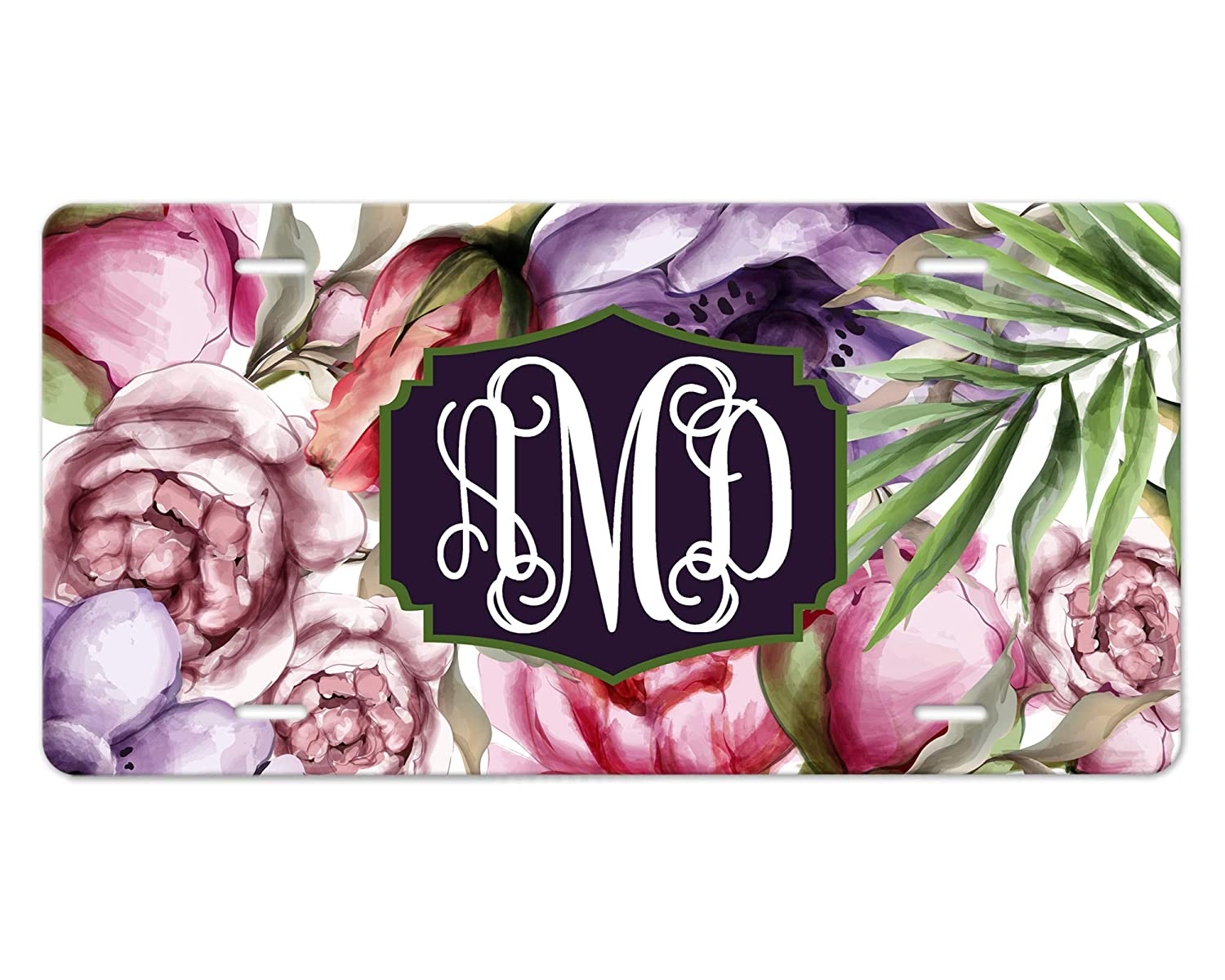 Made-to-Order License Plate Vehicle 25% OFF safety Floral Leafy Watercolor Tag