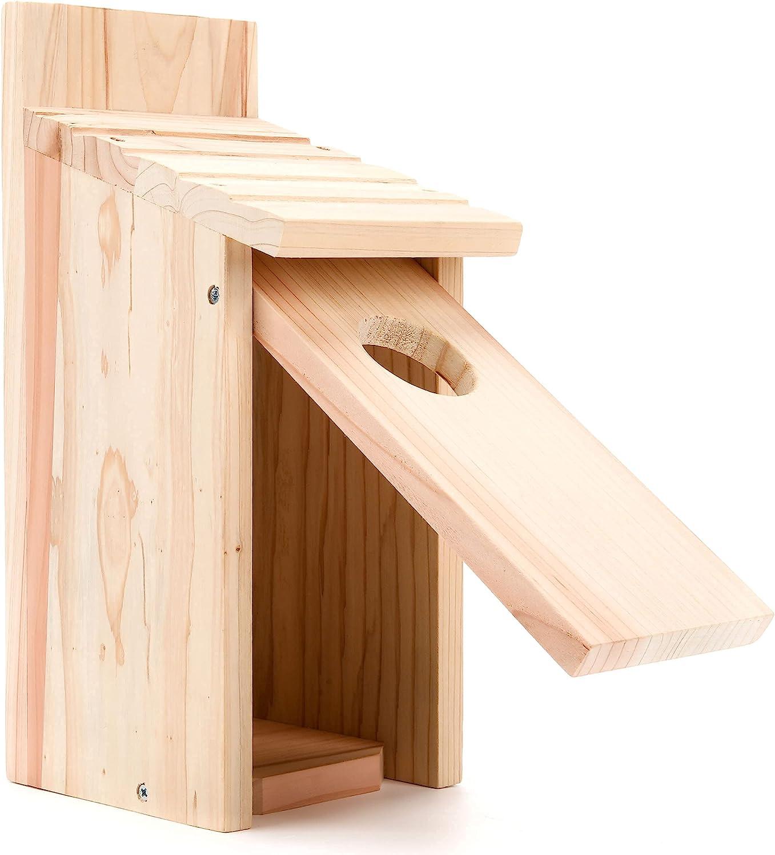OceeK Bluebird House Wooden Max 52% OFF Bird Max 42% OFF Wren Audubon Box an Cedar