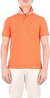 SUN 68 Luxury Fashion Mens A19105ARANCIO Orange Polo Shirt | Season Outlet