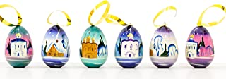craftsfromrussia Christmas Ornaments - Set of 6 - Handmade in Russia (6, M1)