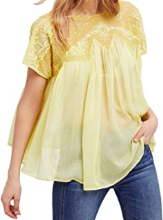 free people sunny days embellished top