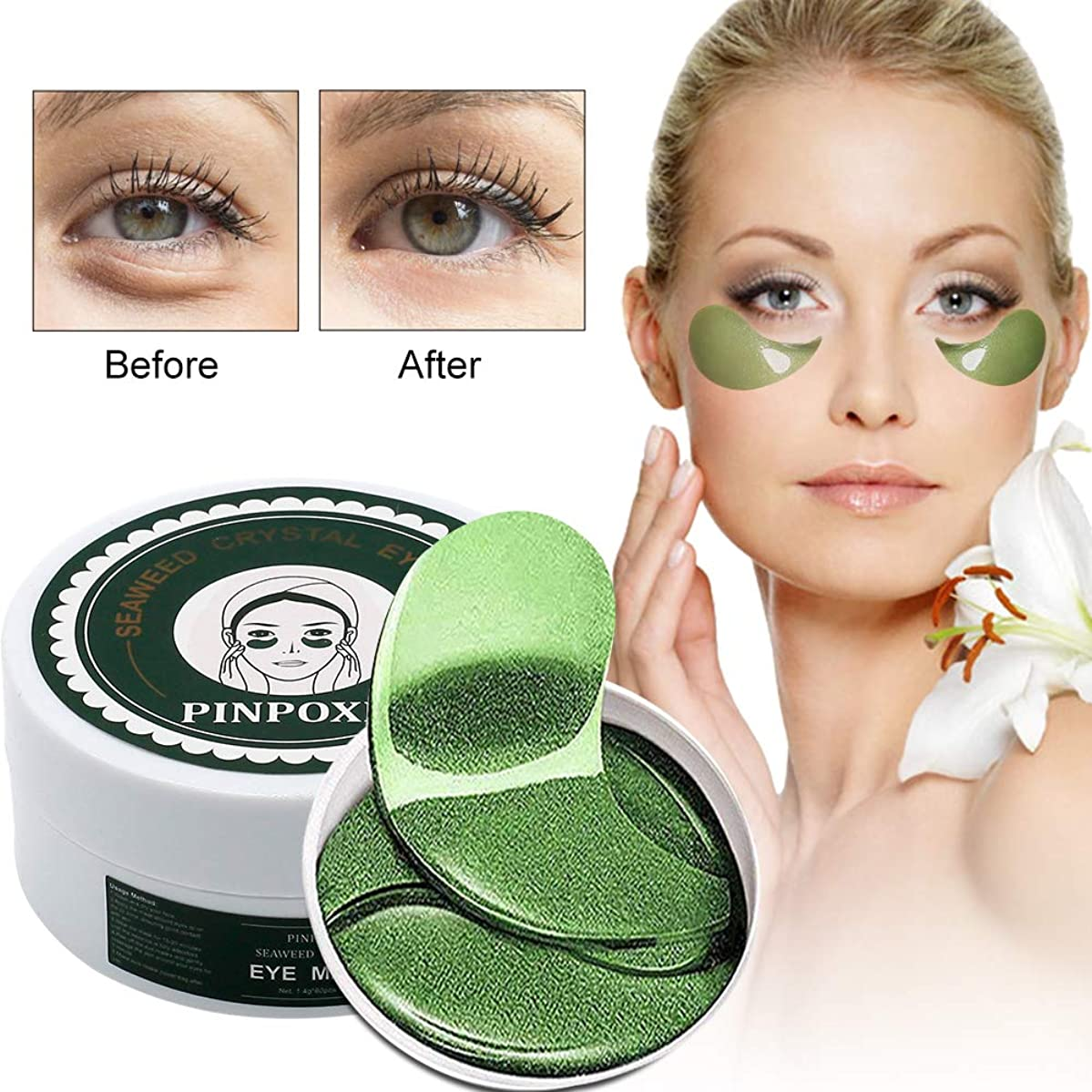 Under?Eye?Pads,?Collagen?Eye?Mask,?Eye?Treatment?Mask,?Puffy?Eyes,?Eye?Patches?,?Dark?Circles?and?Puffiness(30?Pairs)