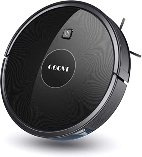 Robot Vacuum, GOOVI 1600PA Robotic Vacuum Cleaner with Self-Charging, 360° Smart Sensor Protectio, Multiple Cleaning ...