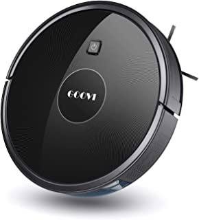 Robot Vacuum, GOOVI 1600PA Robotic Vacuum Cleaner with Self-Charging, 360° Smart Sensor Protectio, Multiple Cleaning Modes...