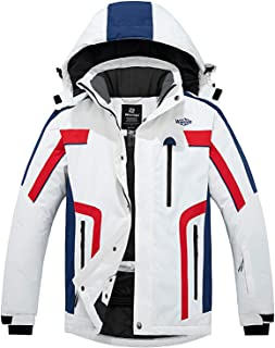 Wantdo Men's Mountain Waterproof Ski Jacket Windproof Warm Winter Rain Coat