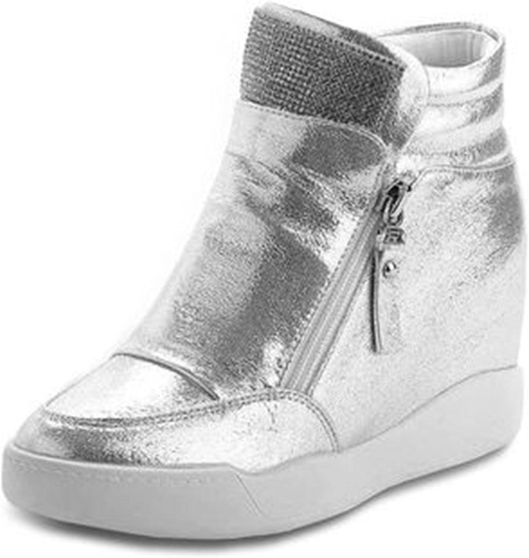 Dahanyi Stylish New Hidden Wedge Heels Fashion Women's Elevator Casual for Women Heel Rhinestone Black White