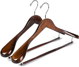 luxury wooden suit hangers