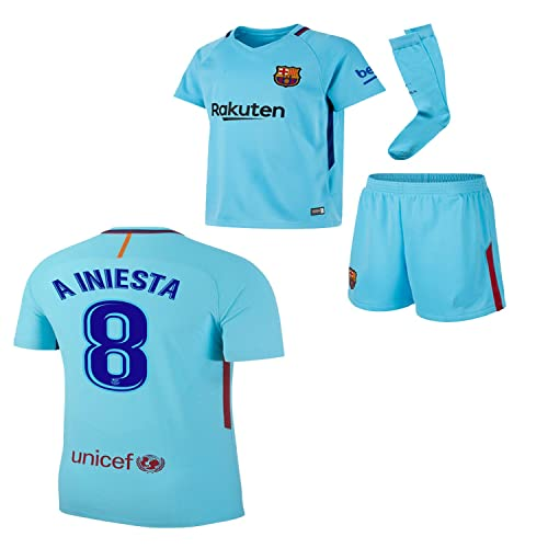 02752ee19f0 BARCA2018 Barcelona NB Messi Suarez Iniesta Neymar 2017 2018 17 18 Kid Youth  Replica Home Jersey
