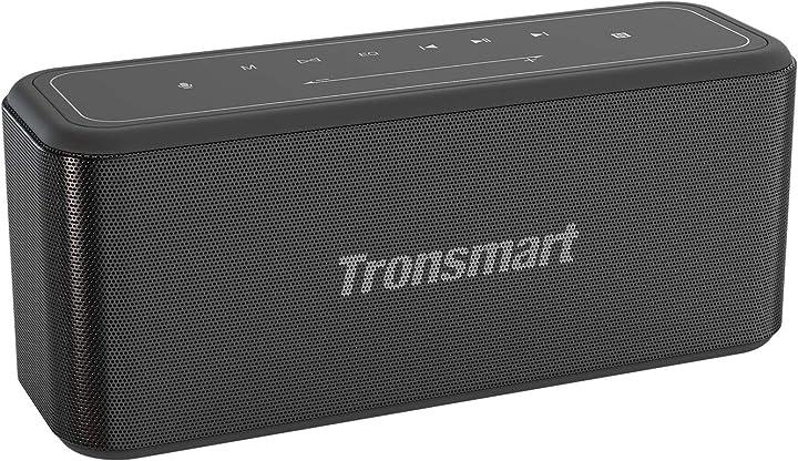 Cassa bluetooth 60w, tronsmart mega pro cassa altoparlante speaker bluetooth 5.0 con deep stereo ST-371652