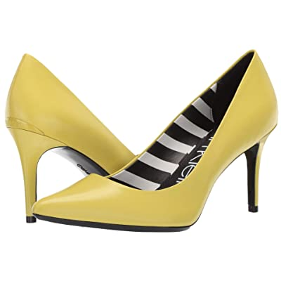 Calvin Klein Gayle Pump (Lime Leather Stripes) High Heels