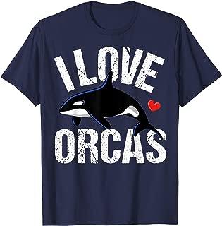 I Love Orcas Killer Whale T-Shirt