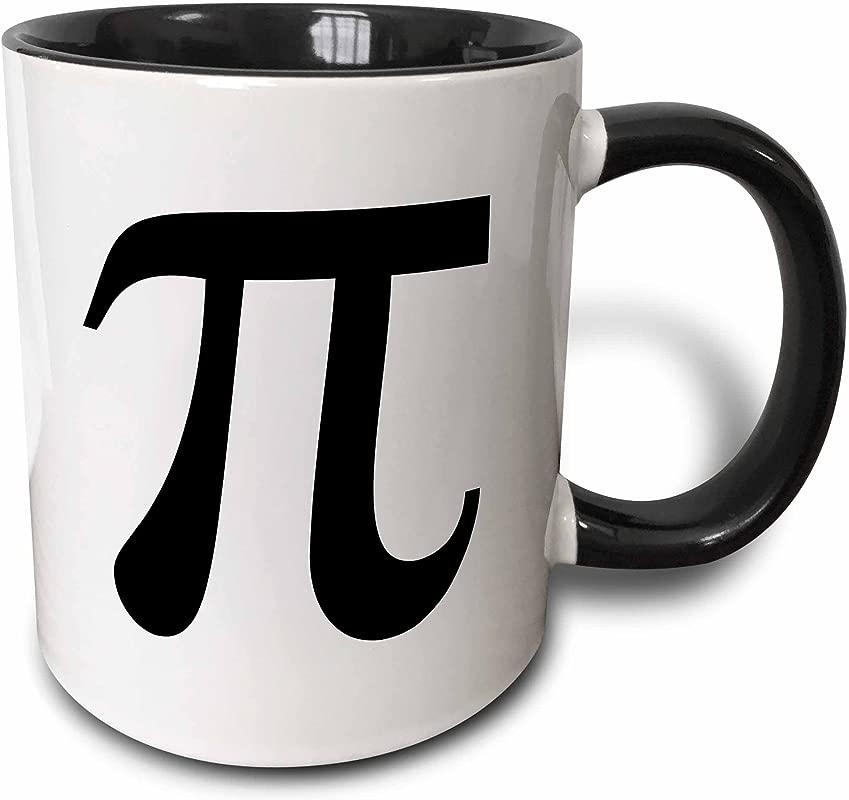 3dRose 164891 4 Pi Symbol Math Sign Black And White Mathematics Number Two Tone Mug 11 Oz Multicolor