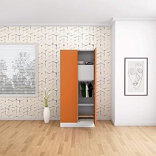 GODREJ INTERIO Slimline 2 Door Steel Almirah with Locker in Textured Marigold